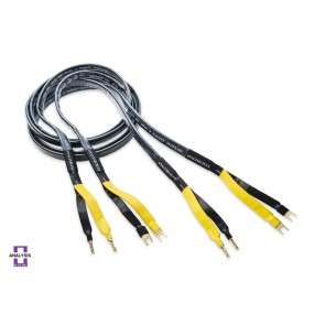 Analysis Plus Black Mesh Oval 9 Speaker Cable 3m Banana or Spade