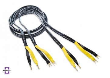 Analysis Plus Black Mesh Oval 9 Speaker Cable 3m Banana or Spade