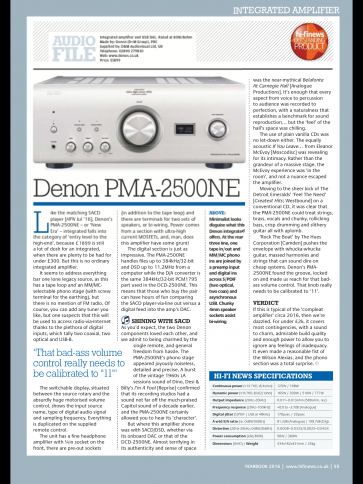 Denon PMA2500NE amplifier ...classic iron hand in velvet glove Japanese Integrated.