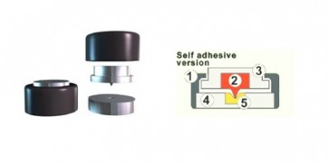 Soundcare Superspike Self Adhesive Feet for Electronics  (Set of 3)