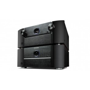 The stack with classic Marantz styling. front Panel of 8802 comes down with full access and disp