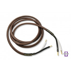 Analysis Plus Chocolate Oval 12/2 Speaker Cable 3m Pair Banana or Spade