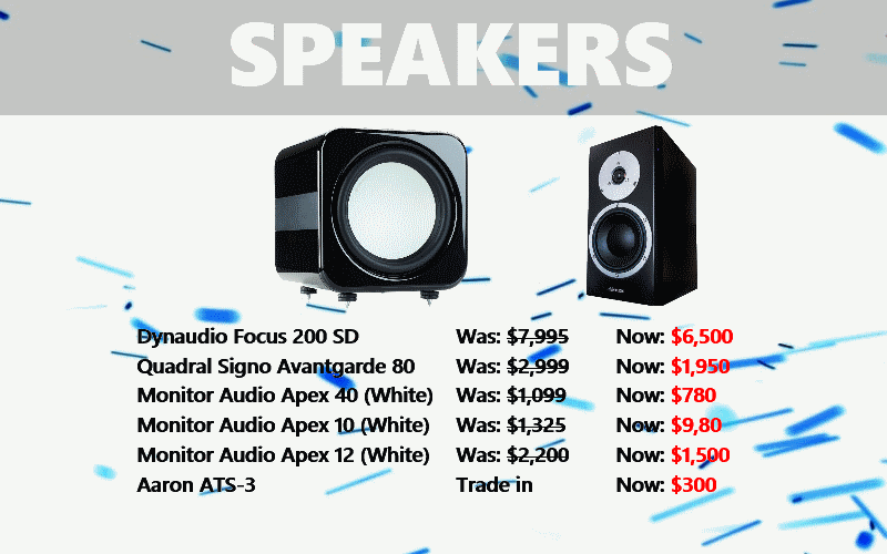 Speaker Clearance